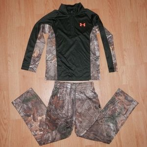 Under Armour Boys Size 7 Camo Outfit